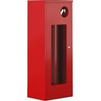 Шкаф пожарный навесной со стеклом красный