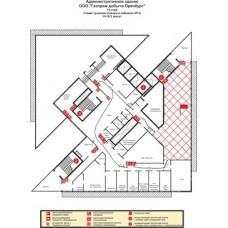 Разаработка плана пожаротушений объекта